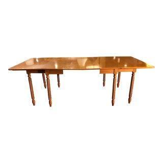 Vintage Mid Century Maple Gate Leg Table