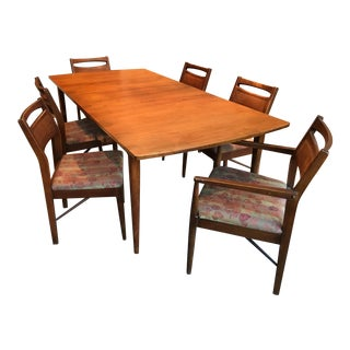 Danish Modern Dining Room Table & Chairs