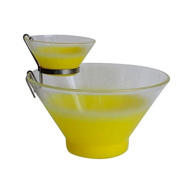 Image of Retro Yellow Chip & Dip Server