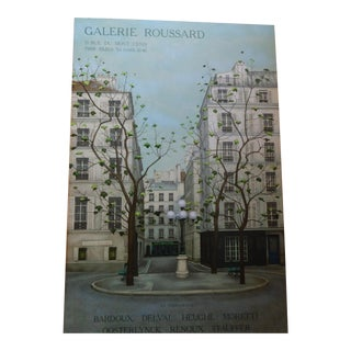 Vintage French Galerie Roussard Lithograph