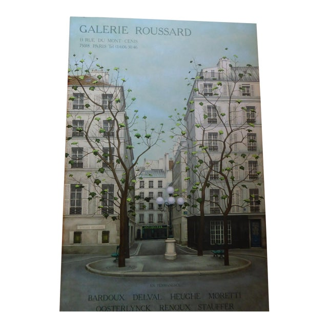 Vintage French Galerie Roussard Lithograph - Image 1 of 5