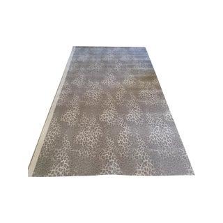 "Gray Leopard Animal Print Carpet - 5'5"" X 10'5"""