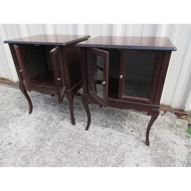 French Provincial Apartment Nightstands - Pair - Image 3 of 7