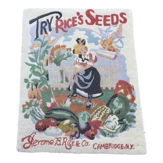 Antique Rug Advertising Tapestry