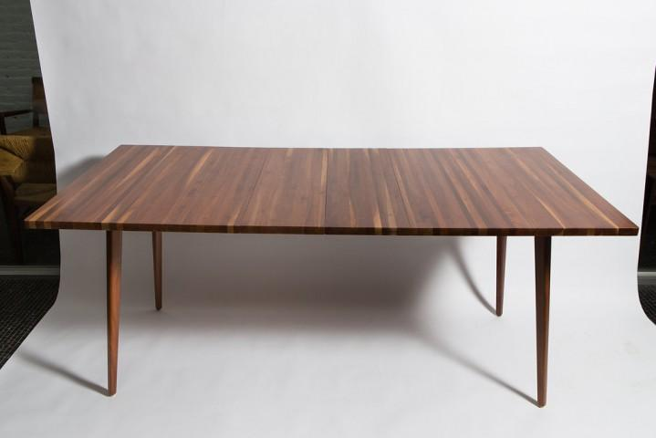 Fine Vintage Mel Smilow Strip Walnut Dining Table with 2 Leaves