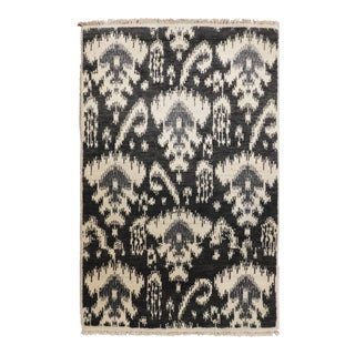 Ikat Hand-Knotted Rug - 2′ × 3′2″