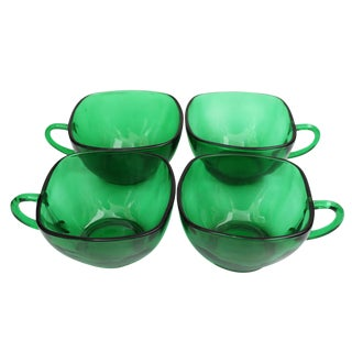 Emerald Green Tea Cups - Set of 4