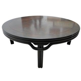 Ebonized Round Cocktail Table