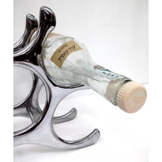 Polished Aluminum Wine Rack - Image 10 of 10