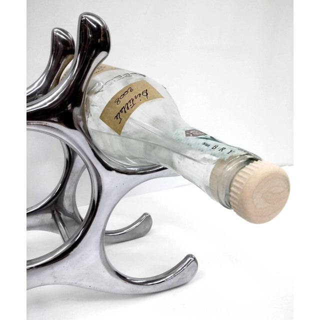 Image of Polished Aluminum Wine Rack