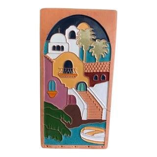 Vintage Greek Terra Cotta Tile