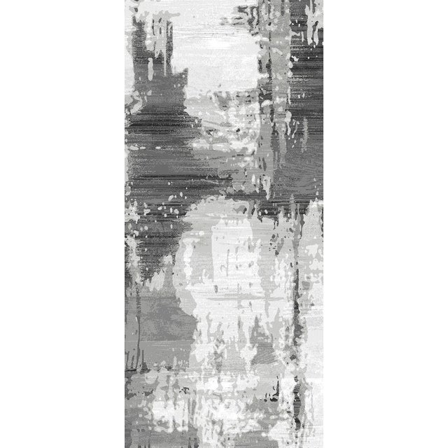 Image of Gray Abstract Runner - 2′4″ × 10′