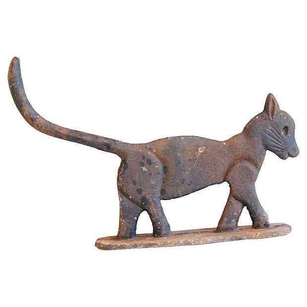 Vintage Cast Iron Cat Boot Scraper/Doorstop - Image 1 of 4