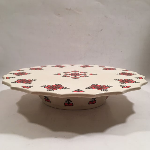 Retro Christmas Ceramic Cake or Cookie Stand - Image 2 of 8