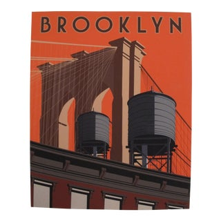 Brooklyn Skyline, Artist Signed Contemporary Poster