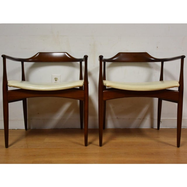 Ib Kofod Larsen for Selig Chairs - A Pair - Image 4 of 11