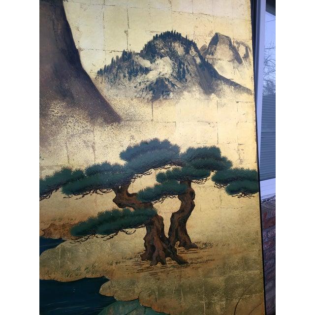 Image of Gilt Ground Asian Landscape Panel