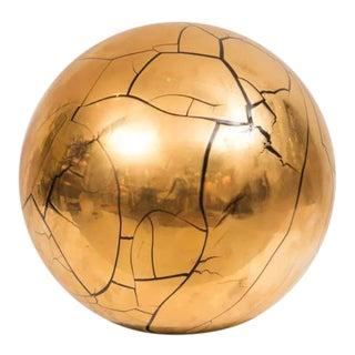 Larry Lubow Signed Ceramic Globe/Sphere Sculpture