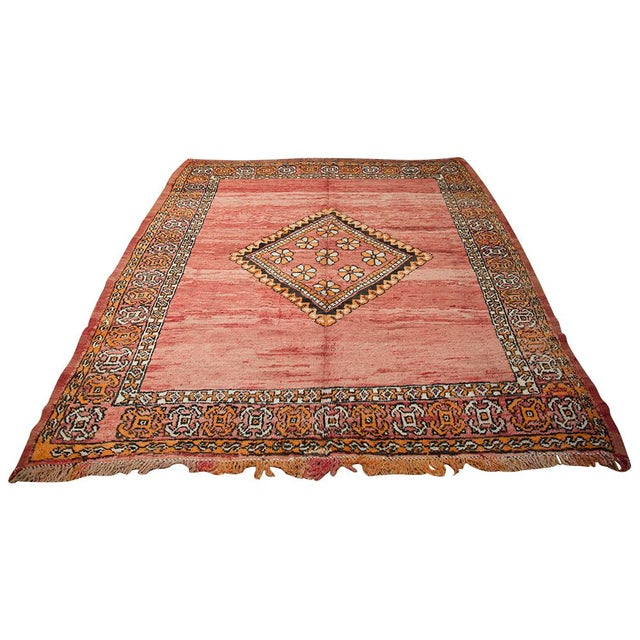 """Red Moroccan Taznakht Rug - 6'7"""" X 8' - Image 2 of 8"""