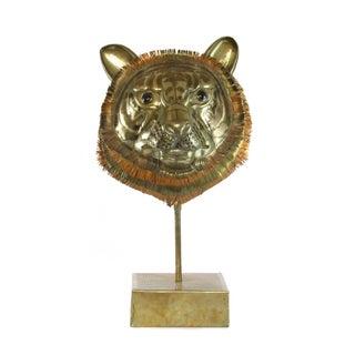 Sergio Bustamante Tiger Bust Sculpture