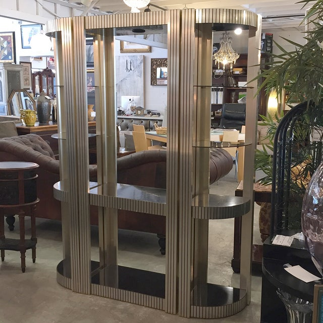 Vintage Three-Piece Black and Gold Etagere - Image 5 of 11
