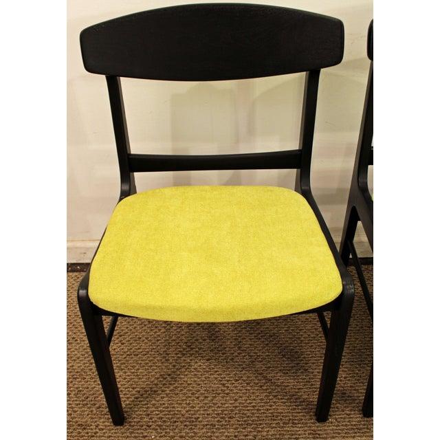 Mid-Century Danish Modern Ebonized 'Citron' Curved Back Dining Chairs - Set of 4 - Image 7 of 11