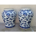 Image of Hand-Painted Chinoiserie Urns- A Pair