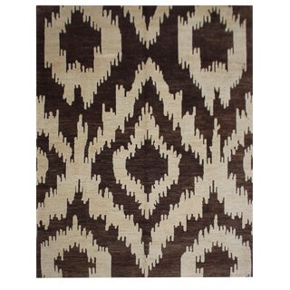 "Hand Knotted Ikat Rug by Aara Rugs Inc. - 9'0"" X 11'11"""