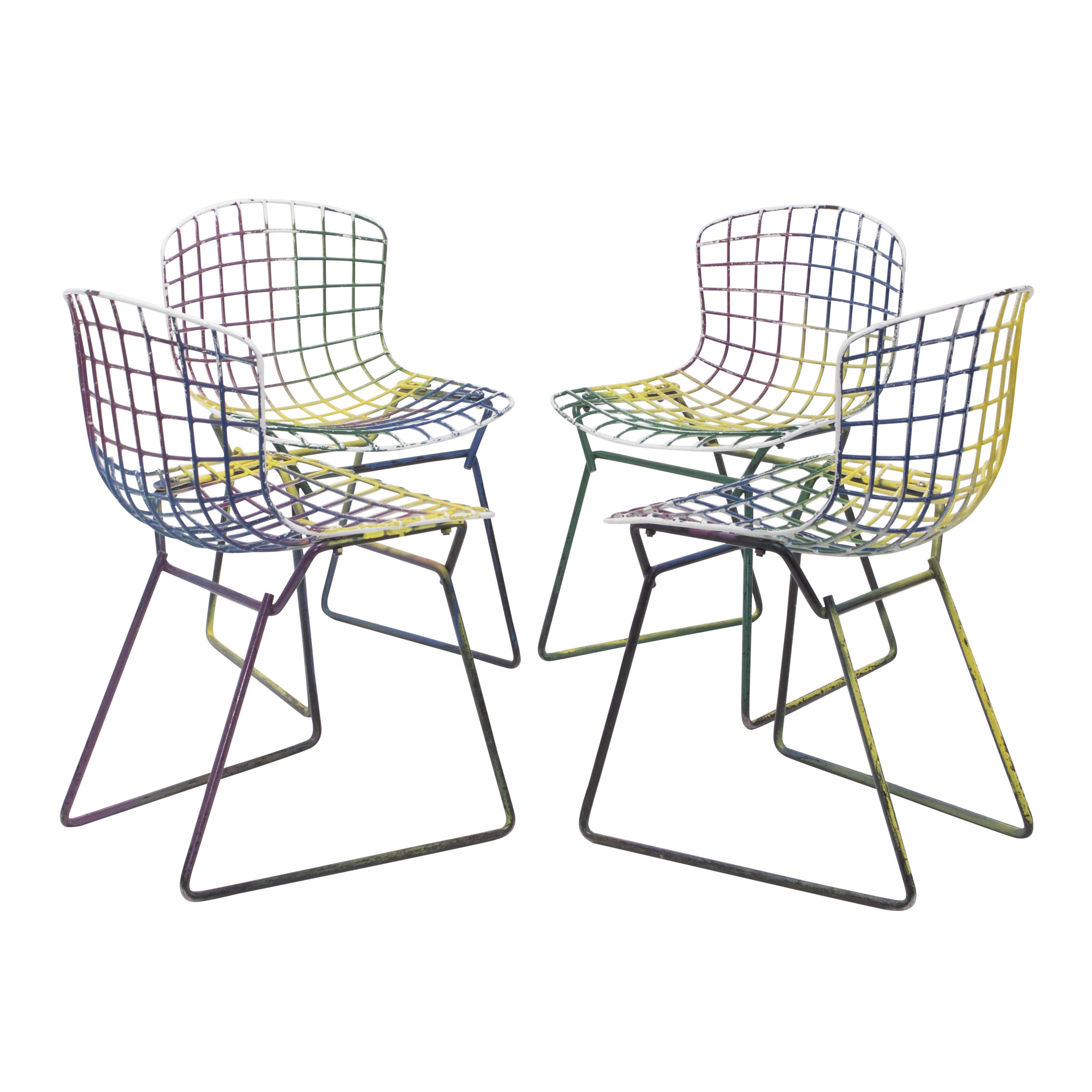 Knoll Bertoia Child Size Chairs Multi   Set Of 4   Image 1 Of 11