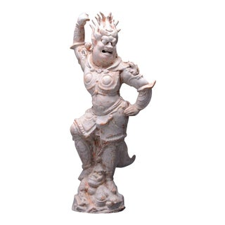 T'ang Painted Terracotta Sculpture of a Lokapala