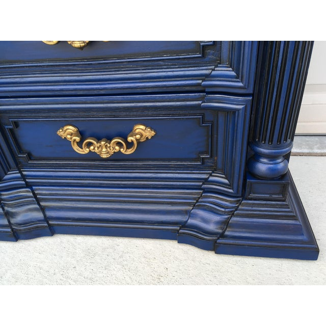Hand Painted Navy Blue Dresser - Image 6 of 8