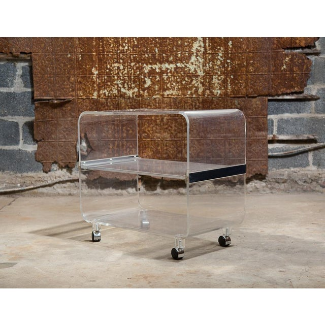 Image of Lucite Bar Cart