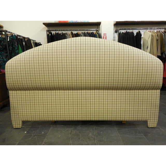 Upholstered Plaid King Headboard - Image 2 of 5
