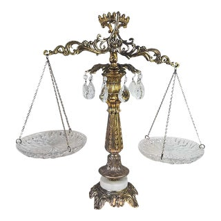 Vintage Brass Scales of Justice