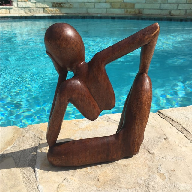 Mid-Century Modern Wooden Sculpture - Image 4 of 7