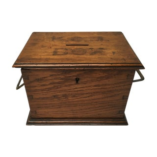 Antique Oak Church Collection Box