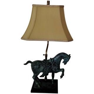 Bronze Tang Horse Lamp