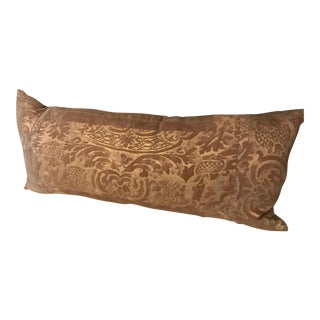 Antique Gold Patterned Fortuny Pillow