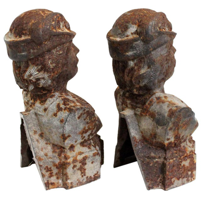 Andiron French Male Chenets - a Pair - Image 3 of 3
