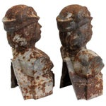 Image of Andiron French Male Chenets - a Pair