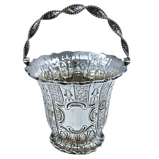 Antique English Silver-Plate Basket