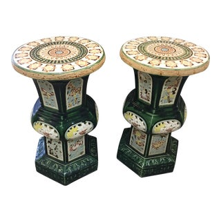 Vintage Chinese Garden Stools - A Pair