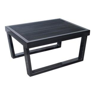 Industrial Black Steel Side Table