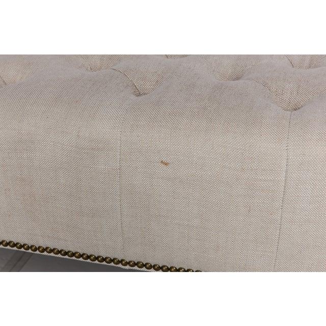 Restoration Hardware Tufted Bench - Image 5 of 5