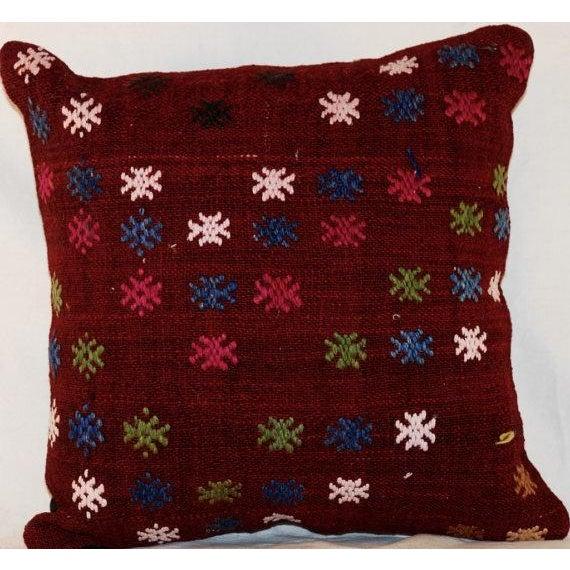 Vintage Bohemian Handmade Kilim Pillow - Image 4 of 7