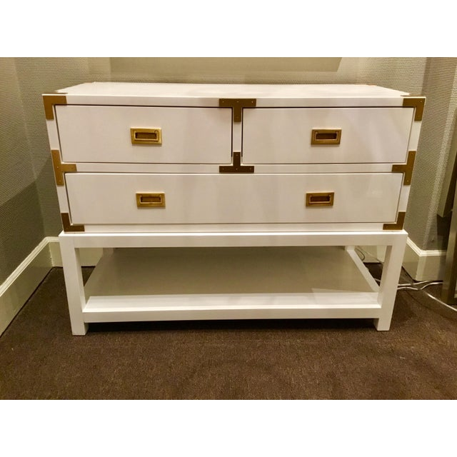 Bungalow 5 Julian White Lacquered Console - Image 8 of 8