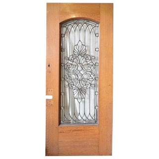 19th Century Leaded Glass Door or Window