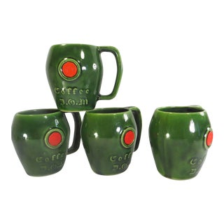 McCoy Pottery Red Stamp DOM Mugs - S/4