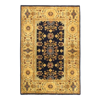 Pasargad NY Tabriz Design Silk and Wool Rug - 4' x 5'1""
