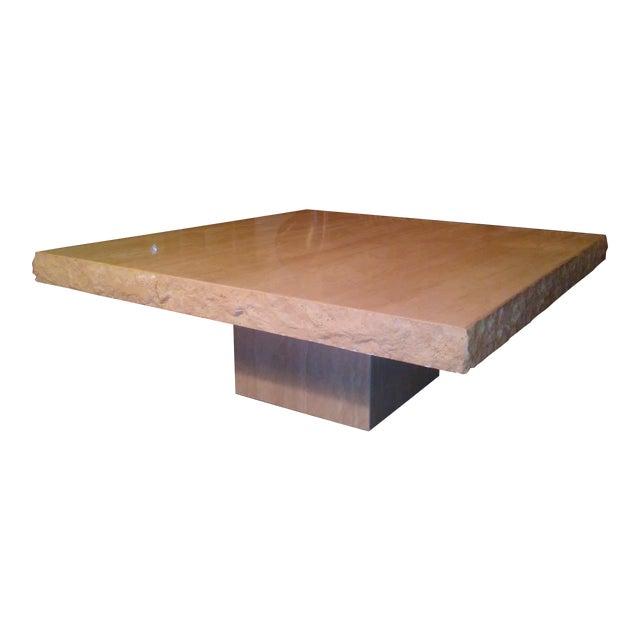 Image of Italian Travertine Coffee Table
